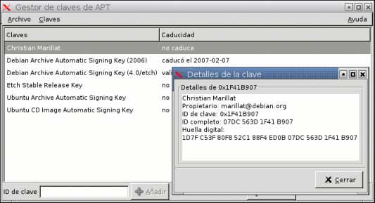 GUI APT Key manager