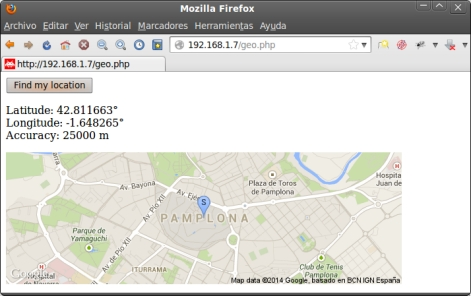 Geolocation HTML5 map