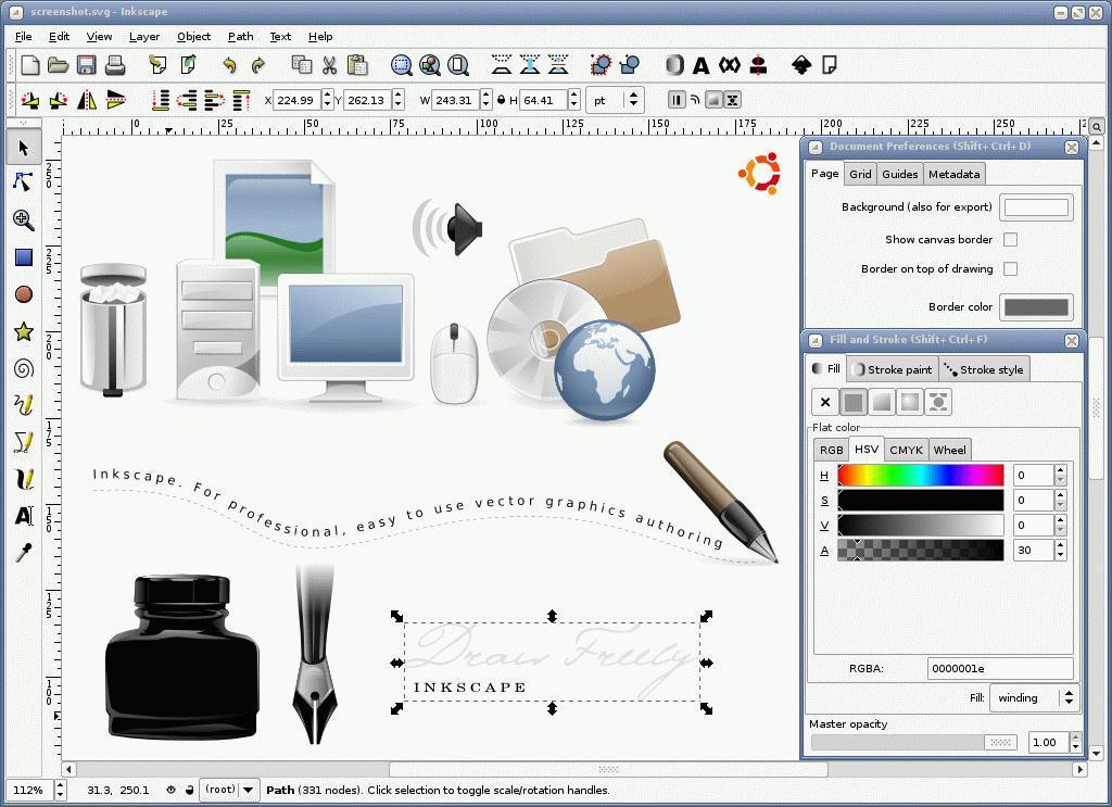 Editor de gr ficos vectoriales en linux estr llate y for Programas para dibujar