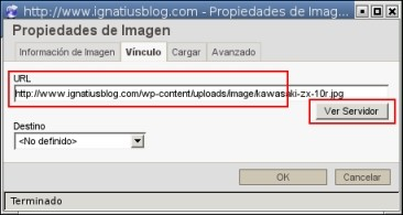 WordPress URL vinculo