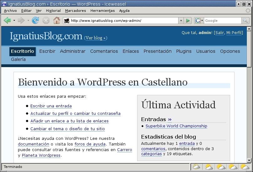 Manual de WordPress | Estréllate y Arde.ORG